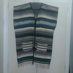Vintage Mexican Blanket Serape, One Size fits all